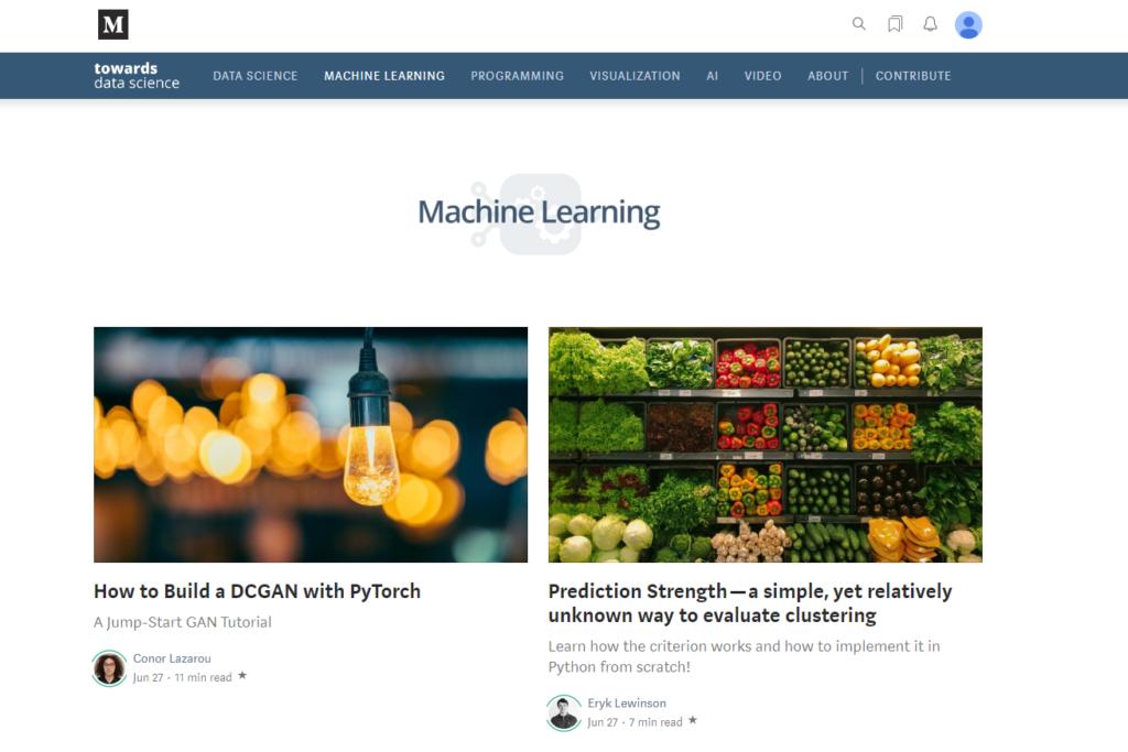 Towards data science - uczenie maszynowe, data science