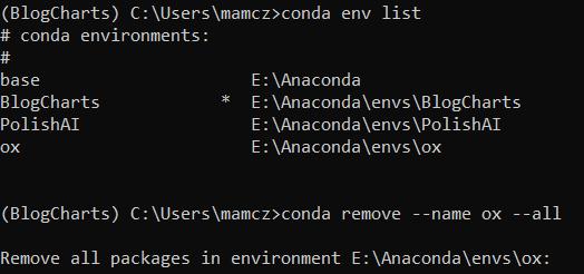 conda remove--name myenv--all
